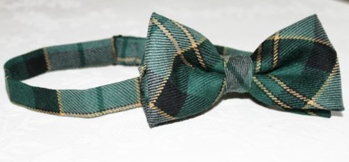 Our adjustable bow tie in Maine Acadia Tartan
