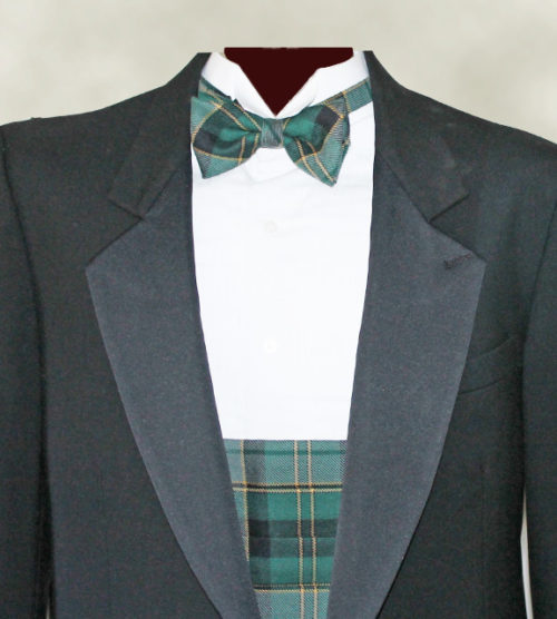 Our Bow Tie and Cummerbund combo in Maine Acadia Tartan