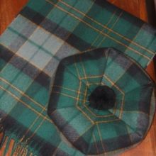 Our Tam & Scarf in Maine Acadia Tartan. Made with 100% lambs wool.