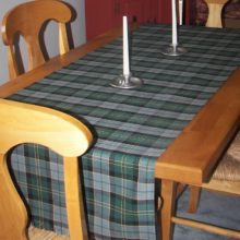 100% Wool Maine Acadia Tartan Table Runner