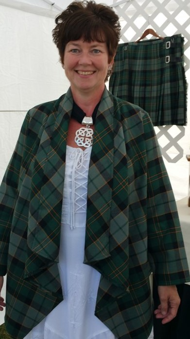 100% Wool Kerry Capes in Maine Acadia Tartan